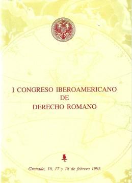 Portada I Congreso Iberoamericano de Derecho Romano