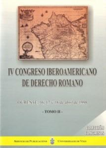 Portada de IV Congreso Iberoamericano de Derecho Romano. Tomo II