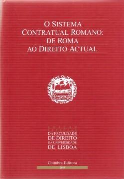 Portada de O Sistema Contractual Romano: de Roma ao Direito Actual